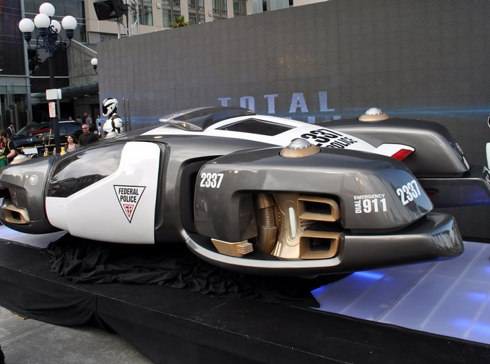 hover car police dodge total recall 164 3d printed