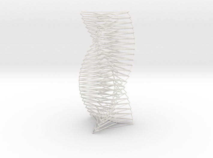 Wired Spiral Helix Tower Three Sided 3d printed