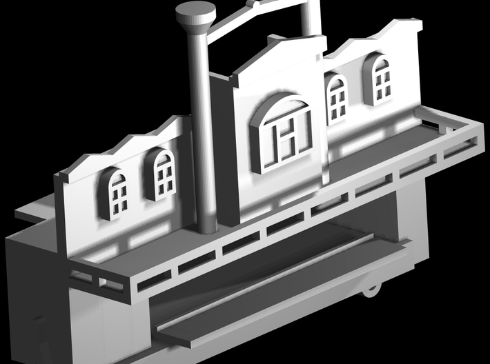 """Spiel - game """"Steamboat""""-Derby 1:220 (z scale) 3d printed"""