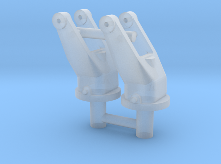 2x 1/16 scale 30cal MG pintle mounts. 3d printed