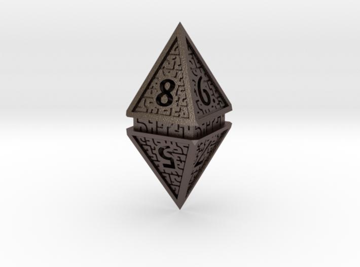 Hedron D8 (Hollow), balanced gaming die 3d printed