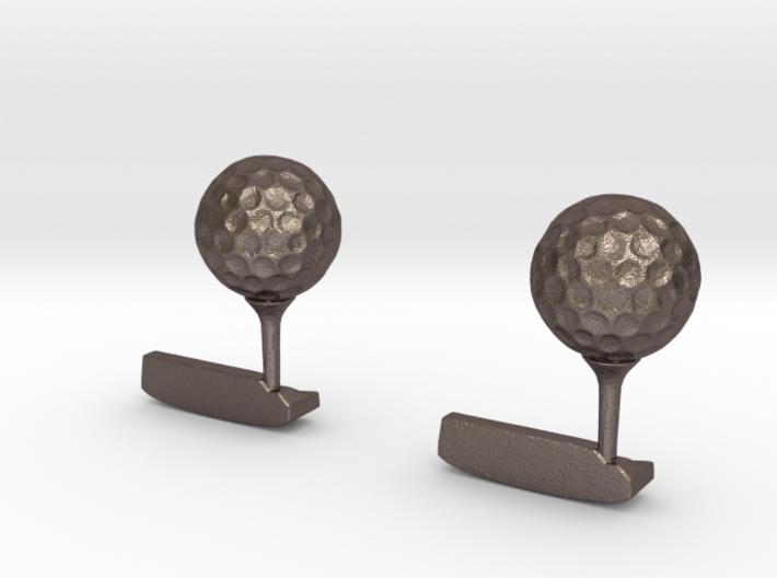 Golf Cufflinks 3d printed