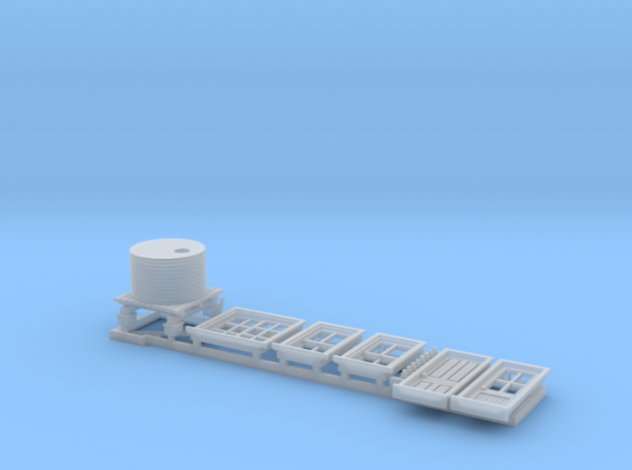 N Scale NSWR Platform Signal Box Detail Parts RH D 3d printed