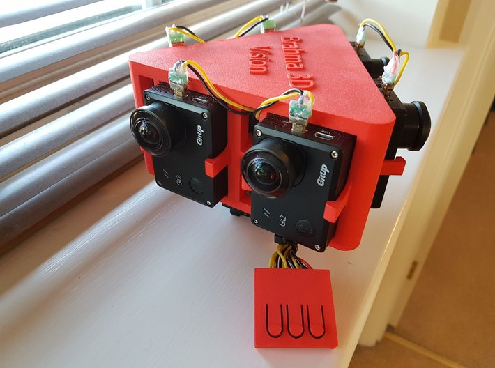 Brahma 3D Vision - Stereo 360 Rig for Git2 cameras 3d printed