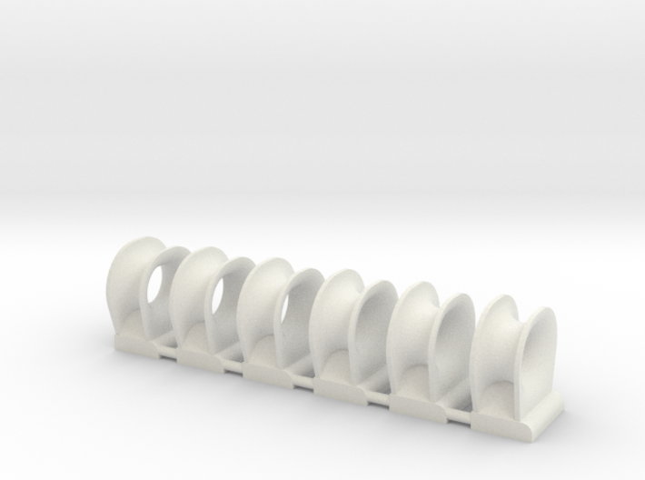 TEMPEST fairlead bow (6pcs) 3d printed