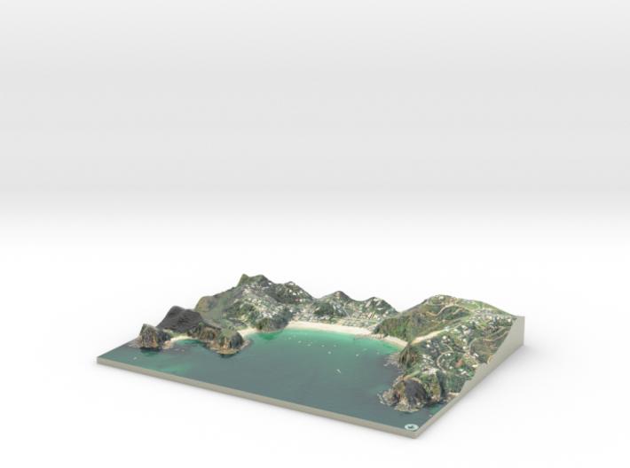 Mawhitipana Bay Map, Waiheke Island 3d printed
