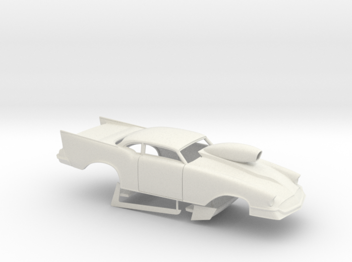 1/18 57 Chevy Pro Mod W Scoop 3d printed
