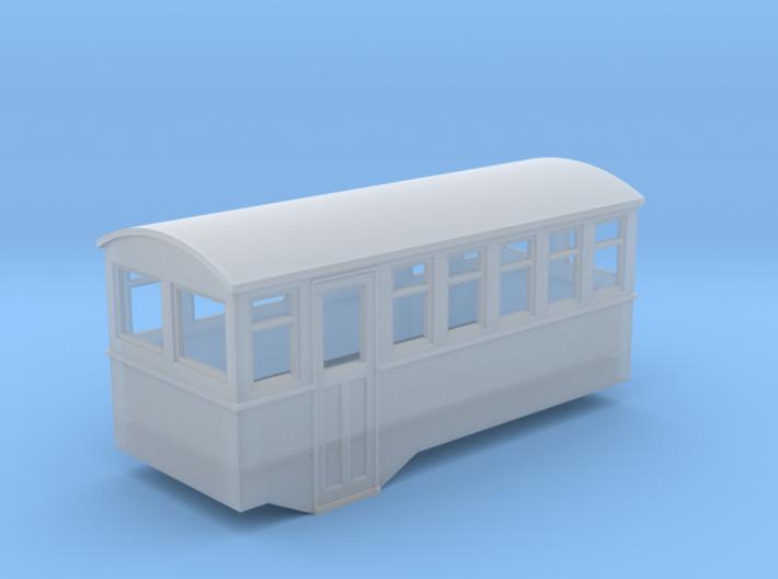1/80 4 wheel railcar trailer 3d printed