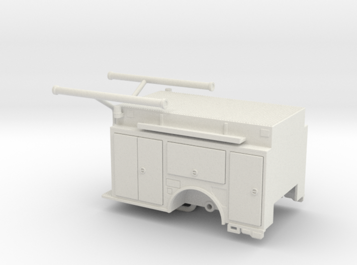 1/87 KME Camden engine body w/ compartment doors 3d printed