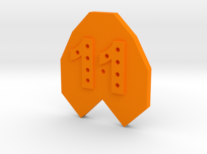 11-hole Number 11 11 Sided Shape 3d printed