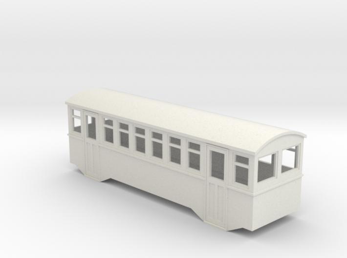HOe bogie railcar trailer 3d printed