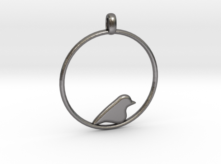 Little Bird Symbolic Pendant 3d printed