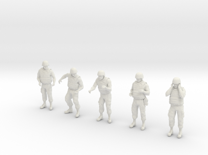 1-32 US Arty Crew Hot Weather Set4 3d printed