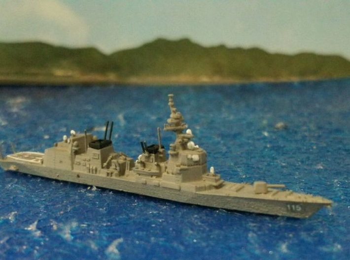 1/2000 JS Akizuki-class destroyer 3d printed painted and decal