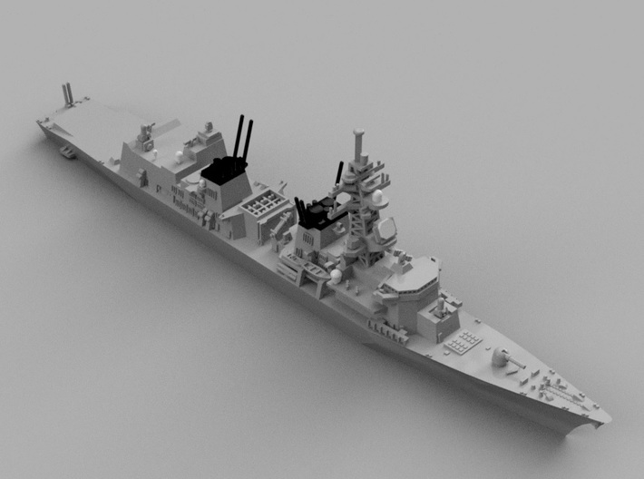 1/2000 JS Murasame-class destroyer 3d printed Computer software render