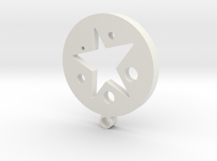 circle and star 3d printed
