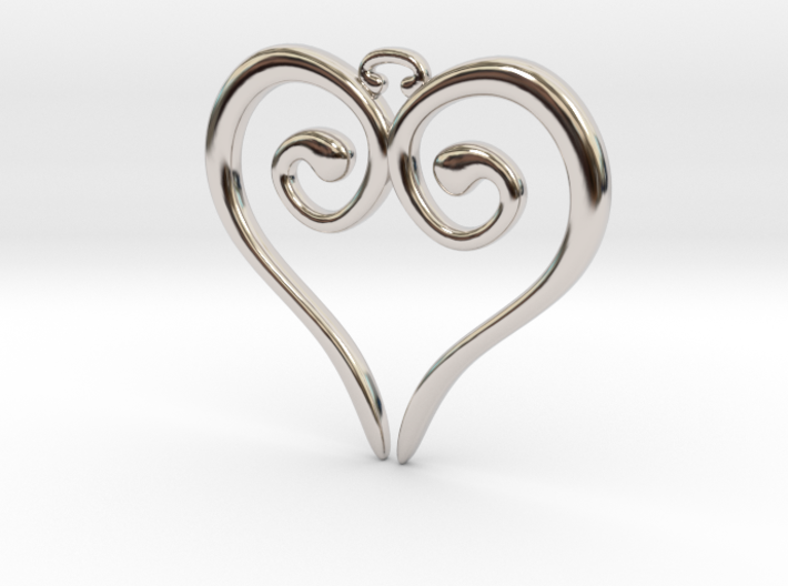 Medieval Heart 3d printed Medieval Heart Rhodium