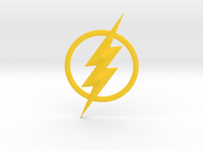 The Flash Emblem 3d printed