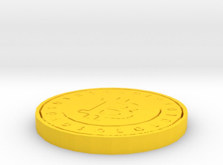Bitcoin Model (Single Color) 3d printed