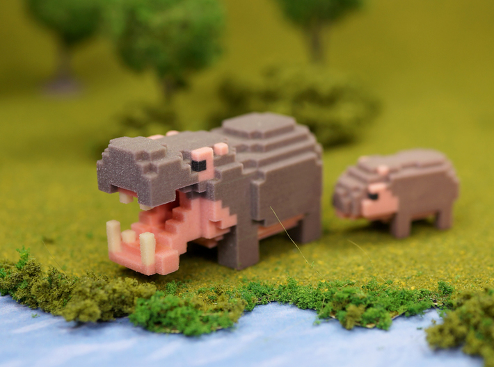 Baby Hippo 3d printed