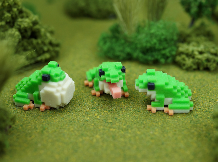 Frog mates - Poufy Frog 3d printed
