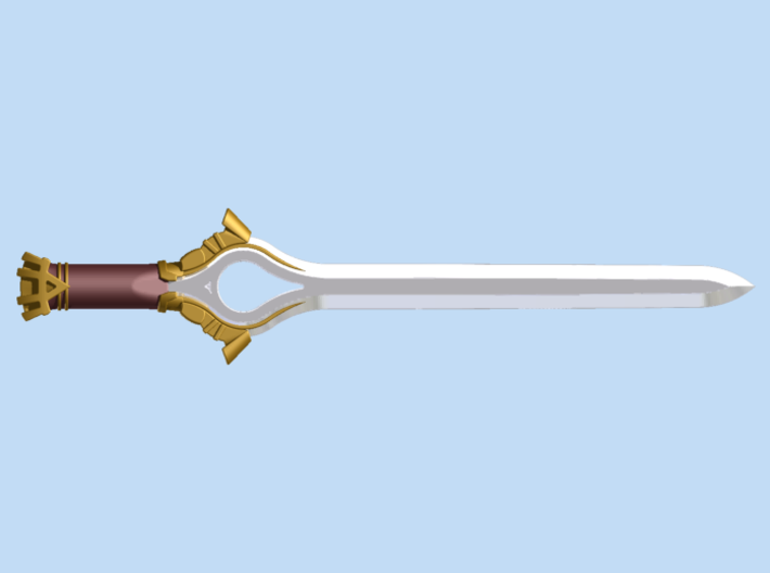Falchion 3d printed Render