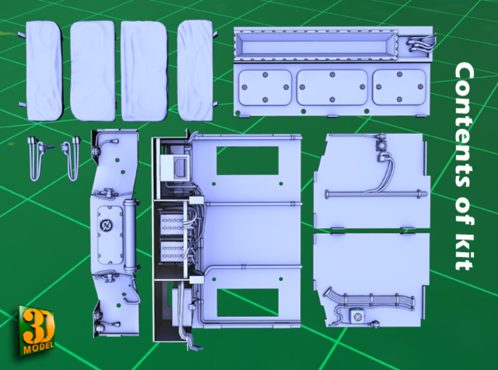 2S7 PION interior set 3 3d printed 2S7 PION/MALKA crew compartment - parts
