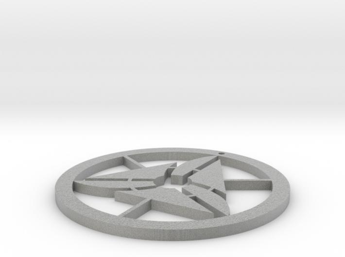 Happy necklace 3d printed