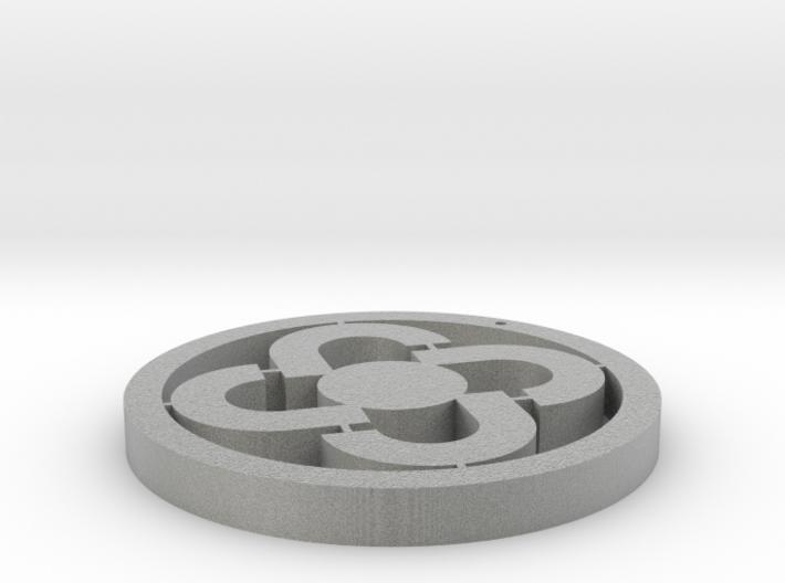 Four rings pendant 3d printed