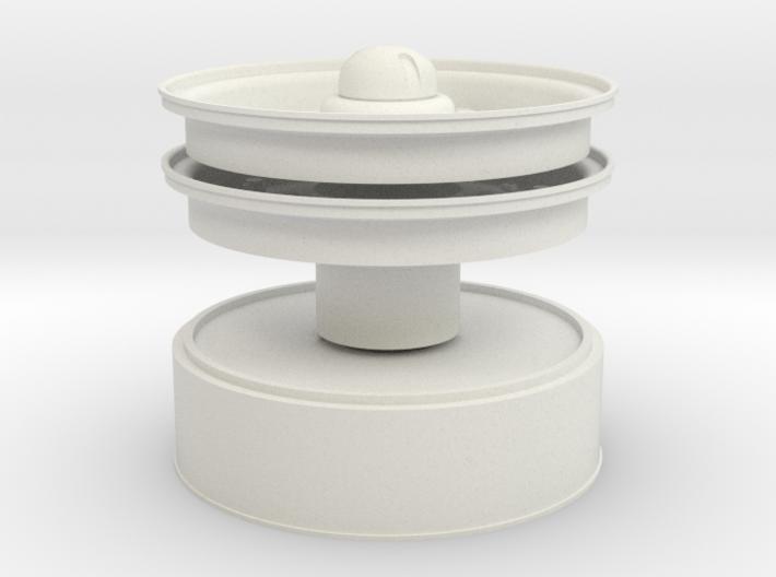 1/6 Hub & Rims and tow cap 3d printed