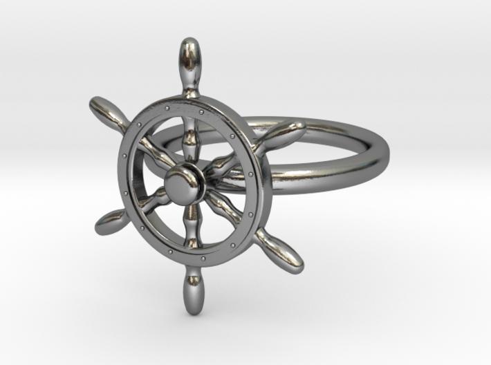 Nautical Steering Wheel Ring - US Size 08 3d printed