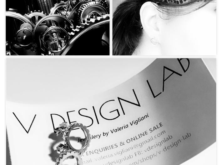 Ingranaggi - Stud Earrings 3d printed Earrings, Earrings Worn & Inspiration
