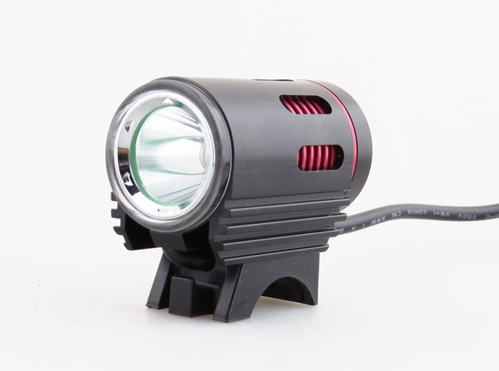 V1.2 (Lupine compatible) GoPro bike headlamp mount 3d printed Example of a generic single LED Chinese light - compatible