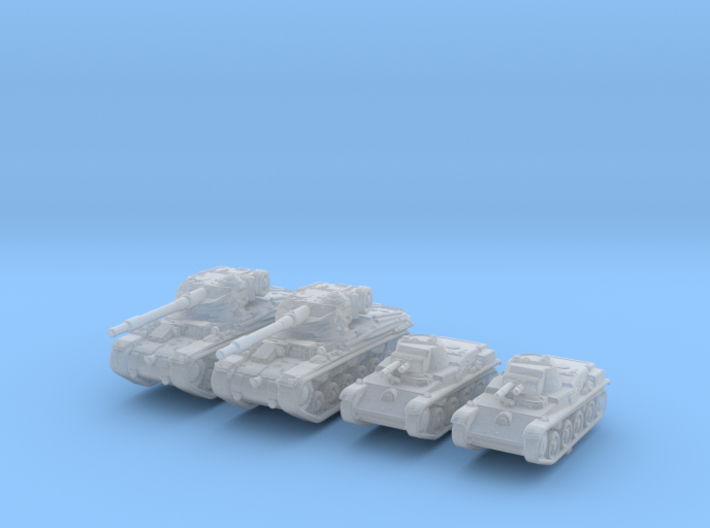 1/285 Swedish 42-57 Alt A.2 + L60 Tank Set X2 3d printed 1/285 Swedish 42-57 Alt A.2 + L60 Tank Set X2