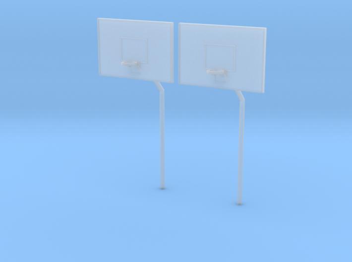 HO Scale Basketball Hoop 3d printed