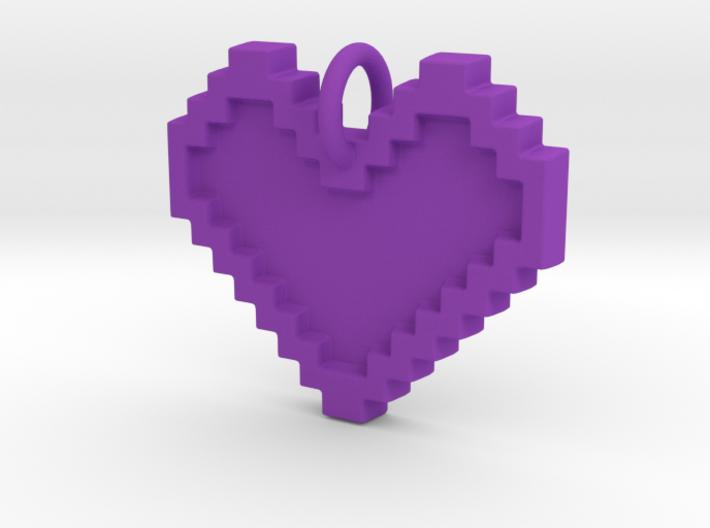 8-bit Heart - 29 cm 3d printed
