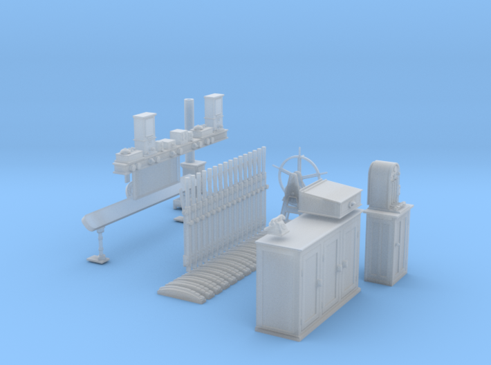 EP70 - O Gauge Signal Box Interior 3d printed