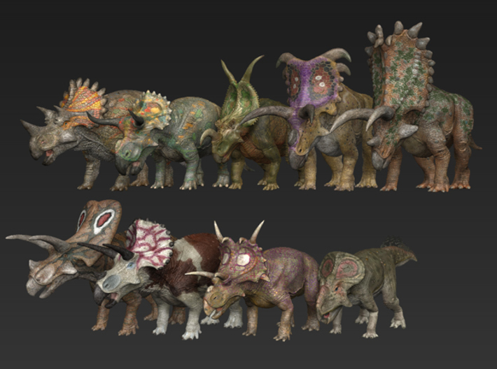 Ceratopsian small package 3d printed