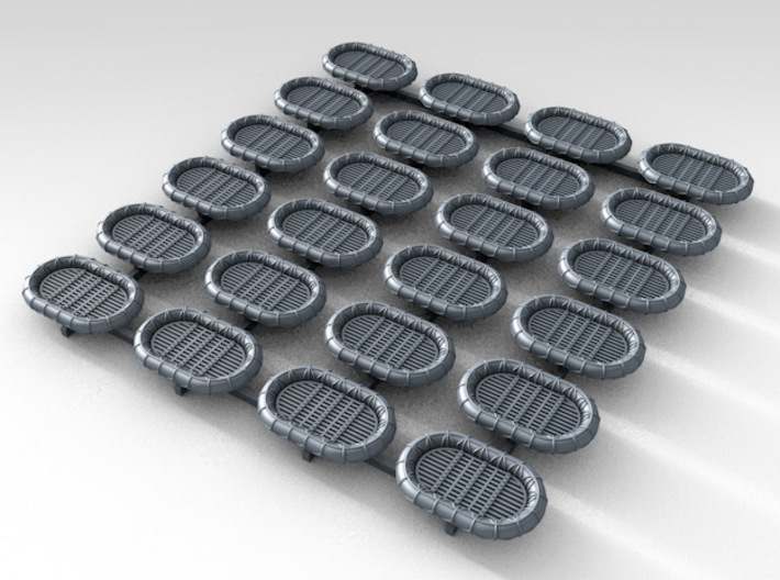 1/500 RN WW2 14ft x 9ft Carley Floats (24) 3d printed 3d render showing product detail