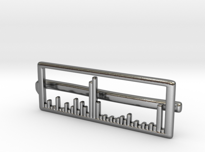 Mass Spectrum Tie Bar - Science Jewelry 3d printed