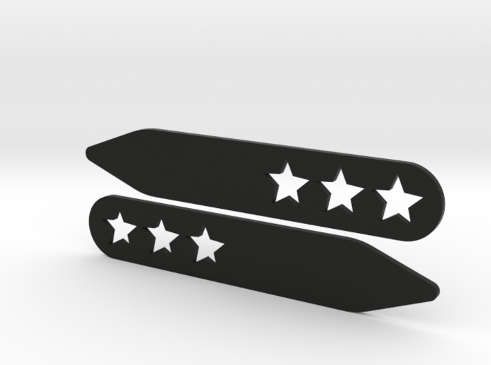 Collar stays: 3 Stars 3d printed