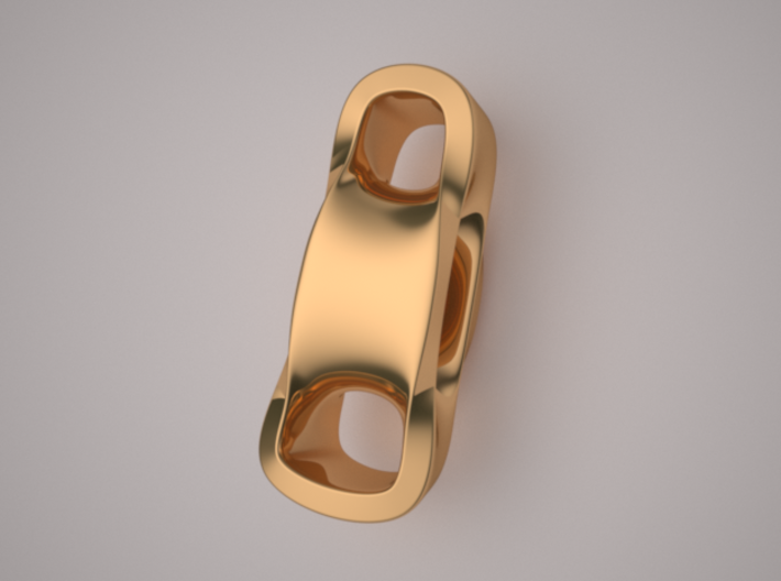 Triple Cube Brass 099 3d printed
