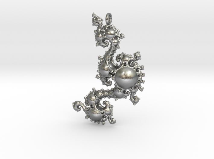 Kleinian Pearls Fractal Pendant 3d printed