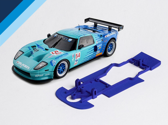 1/32 Ninco Ford GT Chassis for Slot.it AW pod 3d printed Chassis compatible with Ninco Ford GT body (not included)