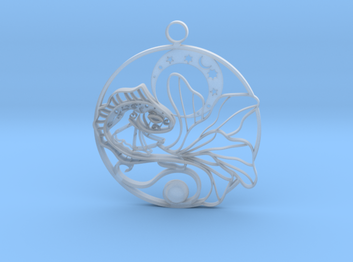 Fish and moon 3d printed