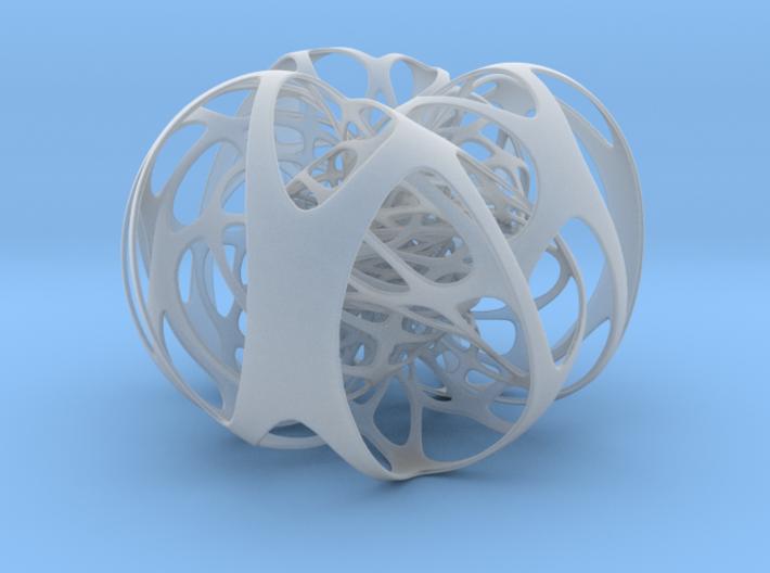 3 interlocking Clifford tori 3d printed