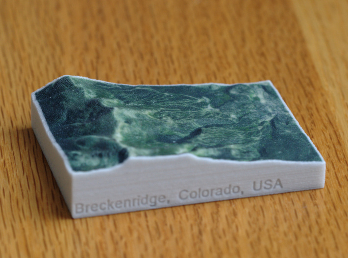 Breckenridge, Colorado, USA, 1:100000 3d printed
