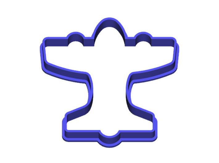Airplane Cookie Cutter 3d printed Top View