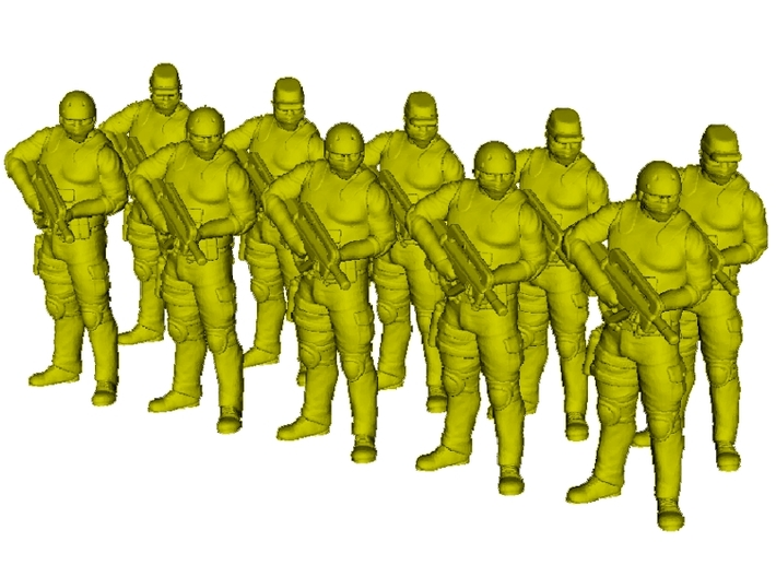 1/72 scale SpecOps operators soldier figures x 10 3d printed