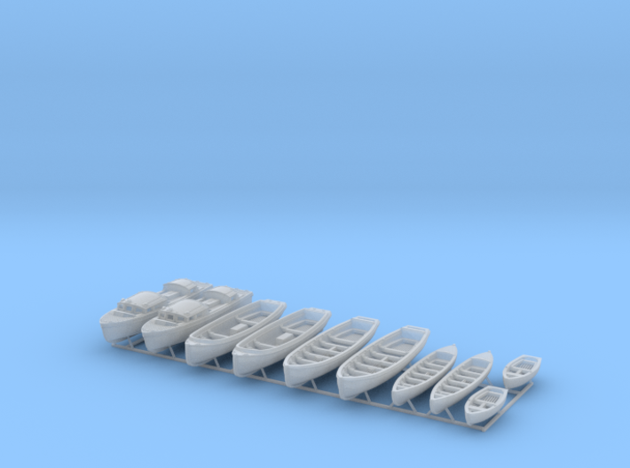 1/144 WW2 RN Boat Set 1 without Mounts 3d printed 1/144 WW2 RN Boat Set 1 without Mounts